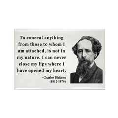 Charles Dickens 12 Rectangle Magnet (10 pack)
