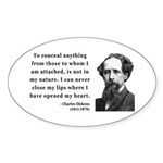 Charles Dickens 12 Oval Sticker