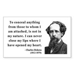 Charles Dickens 12 Rectangle Sticker