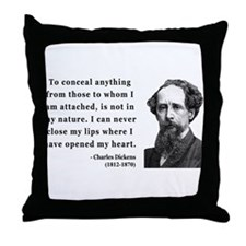 Charles Dickens 12 Throw Pillow