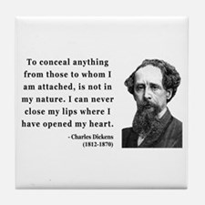 Charles Dickens 12 Tile Coaster