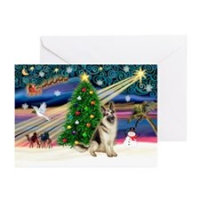 XmasMagic/G-Shepherd #8 Greeting Cards (Pk of 10)