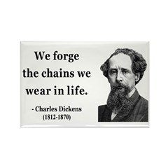 Charles Dickens 11 Rectangle Magnet (100 pack)