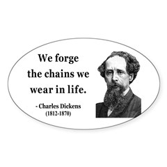 Charles Dickens 11 Oval Decal