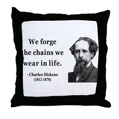 Charles Dickens 11 Throw Pillow