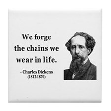 Charles Dickens 11 Tile Coaster