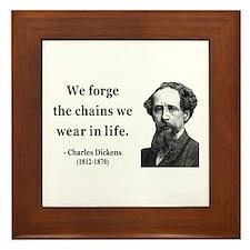 Charles Dickens 11 Framed Tile