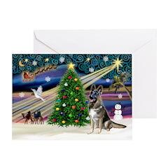 Xmas Magic-G-Shep #7 Greeting Card