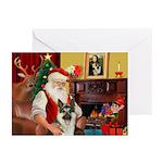 Santa's G-Shepherd (#8) Greeting Cards (Pk of 20)