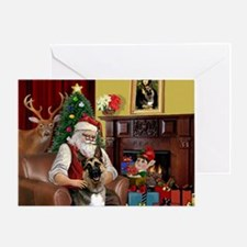 Santa's G-Shepherd (#2) Greeting Card