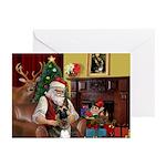 Santa's G-Shepherd (#2) Greeting Cards (Pk of 20)