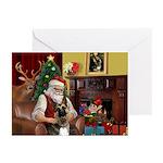Santa's G-Shepherd (#2) Greeting Cards (Pk of 10)