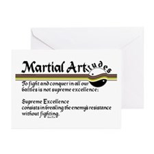 Martial Artitude Sun Tzu Greeting Cards (Pk of 20)