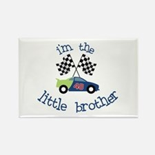 racecar little brother t-shirt Rectangle Magnet