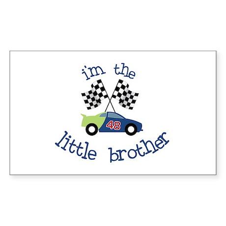 racecar little brother t-shirt Rectangle Sticker
