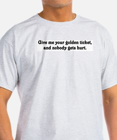 Give me your golden ticket Ash Grey T-Shirt