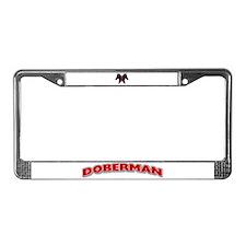 Doberman License Plate Frame