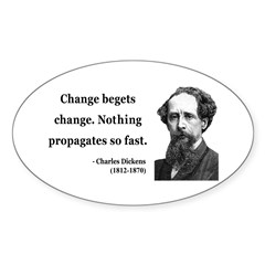 Charles Dickens 9 Oval Decal