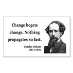 Charles Dickens 9 Rectangle Sticker