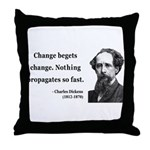 Charles Dickens 9 Throw Pillow