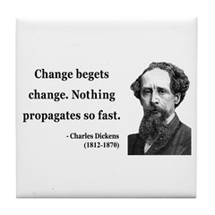Charles Dickens 9 Tile Coaster