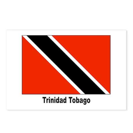 Trinidad Tobago Flag Postcards (Package of 8)