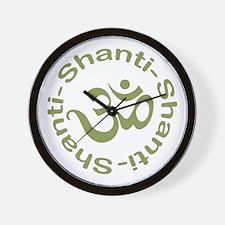 Om Shanti Shanti Shanti Wall Clock