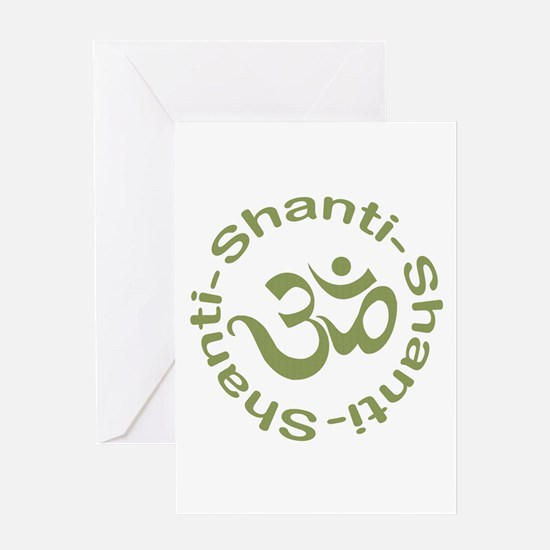 Om Shanti Shanti Shanti Greeting Card