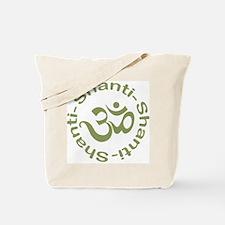 Om Shanti Shanti Shanti Tote Bag