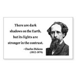 Charles Dickens 8 Rectangle Sticker