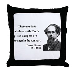 Charles Dickens 8 Throw Pillow