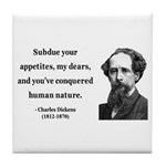 Charles Dickens 7 Tile Coaster
