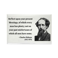 Charles Dickens 6 Rectangle Magnet