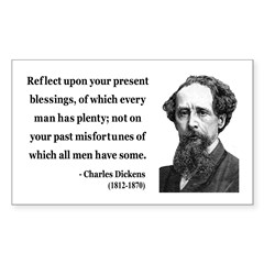 Charles Dickens 6 Rectangle Decal
