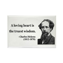 Charles Dickens 3 Rectangle Magnet