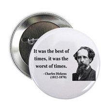"""Charles Dickens 2 2.25"""" Button"""