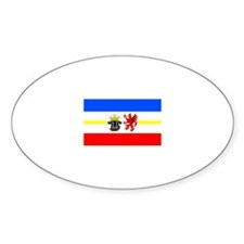 Germany Mecklenburg-Western P Oval Decal