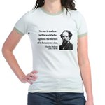 Charles Dickens 1 Jr. Ringer T-Shirt