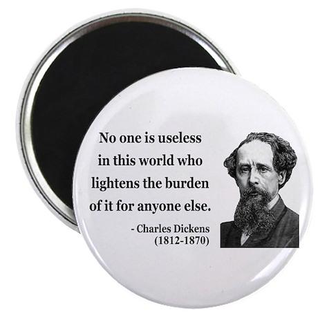 "Charles Dickens 1 2.25"" Magnet (100 pack)"