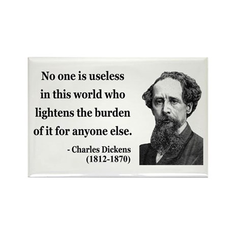 Charles Dickens 1 Rectangle Magnet (10 pack)