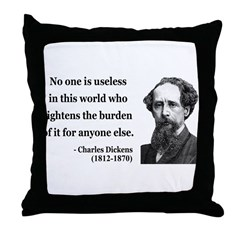 Charles Dickens 1 Throw Pillow