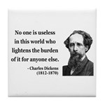 Charles Dickens 1 Tile Coaster