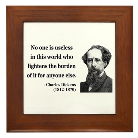 Charles Dickens 1 Framed Tile