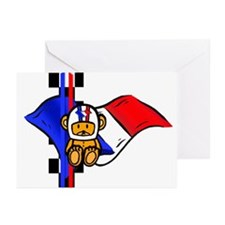 French Racers Helmet Greeting Cards (Pk of 20)
