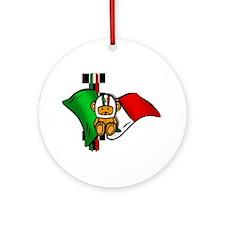 Italian Pride Racers Ornament (Round)