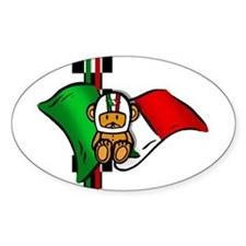 Italian Pride Racers Oval Decal