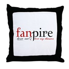 Fanpire Throw Pillow