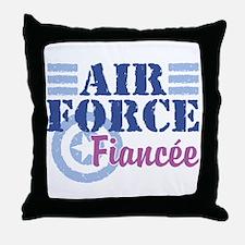 Air Force Fiancee Throw Pillow