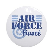Air Force fiance Ornament (Round)