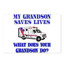 Ambulance Saves Lives-Grandso Postcards (Package o